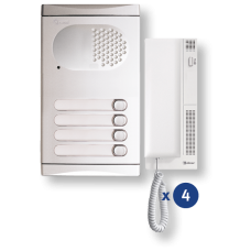 4140/AL kit θυροτηλεφώνου 4 κλήσεων