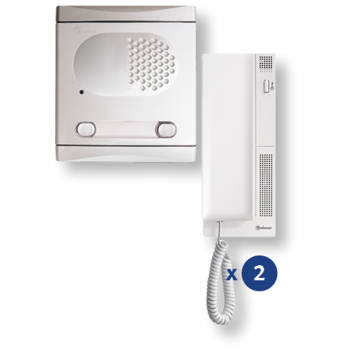 4220/AL kit θυροτηλεφώνου 2 κλήσεων