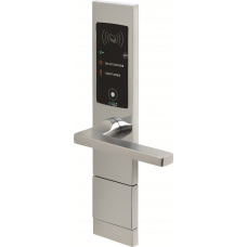 1008/100DL Electronic handle with RoomBus tag Transponder reader - Push opening to the right - Polished Chrome finishing