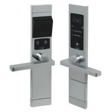 1008/101DL Electronic handle with RoomBus external tag Transponder reader and internal reader - Push opening to the right - Polished Chrome finishing