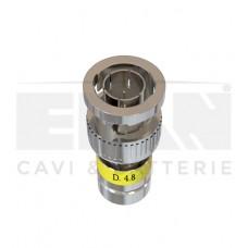 408022C BNC 4,80mm για MINI COAX