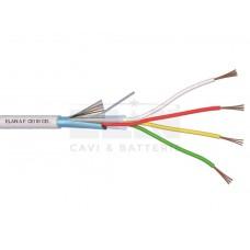 020041 Καλώδιο συναγερμού 100% χαλκός με θωράκιση 4 x 0.22mm